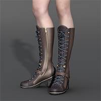 Slide3D J Boots for V4 3D Figure Assets Slide3D