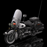 Harley Davidson Police (for Poser) Themed Transportation Digimation_ModelBank