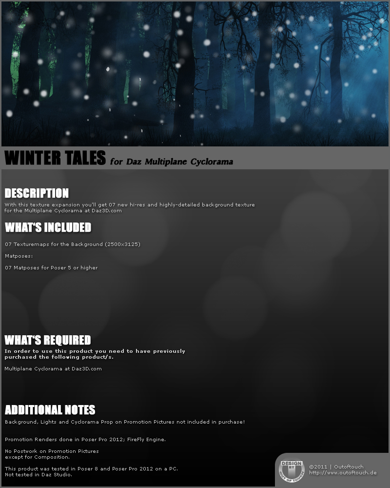 WINTER TALES for Daz Multiplane Cyclorama