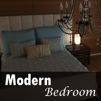 Modern Bedroom By TruForm Props/Scenes/Architecture Software TruForm