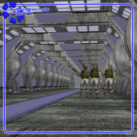 Sci-Fi Hallways (for Poser) image 1