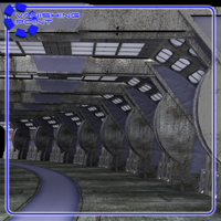 Sci-Fi Hallways (for Poser) image 3