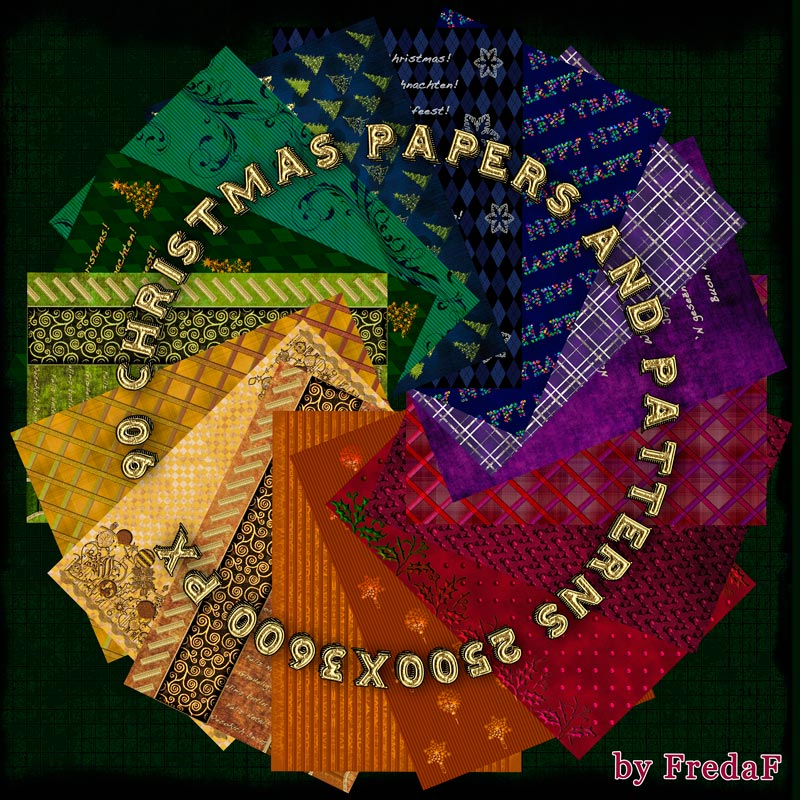 90 Christmas Papers and Patterns
