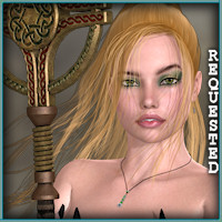 Touchable Fantasy Warrior by -Wolfie-