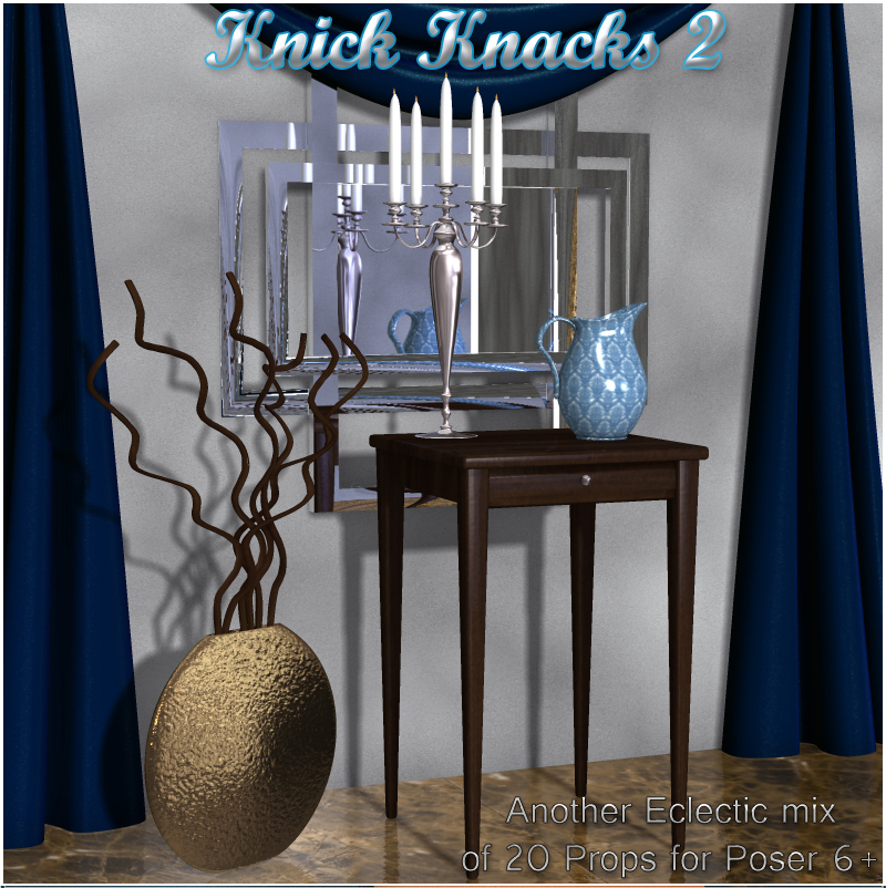 Knick Knacks 2 - Decorative Props for Poser
