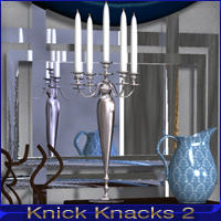 Knick Knacks 2 - Decorative Props for Poser 3D Models nikisatez