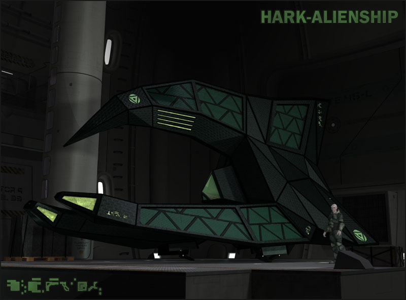 Alien Spaceship I by 3-D-C by 3-d-c