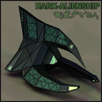 Alien Spaceship I by 3-D-C Software Props/Scenes/Architecture Themed Transportation 3-d-c