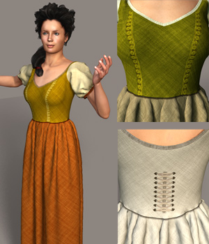 The Lady of the Farm 3D Figure Essentials 3D Models RAGraphicDesign