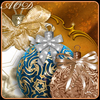 X-Mas Balls 3D Models 2D Graphics ArtOfDreams