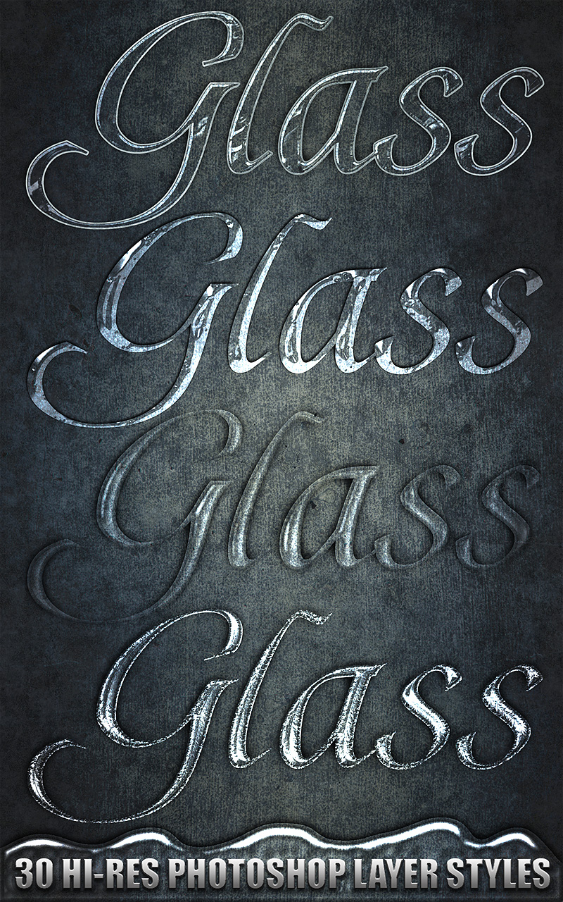 Glass - Photoshop Styles