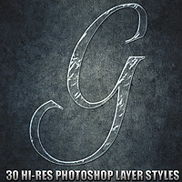Glass - Photoshop Styles 2D Graphics designfera