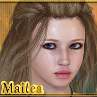 Maitea for V4 3D Figure Assets -dragonfly3d-