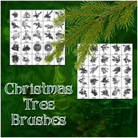 Christmas Tree Brushes 2D Graphics 3D Models Atenais