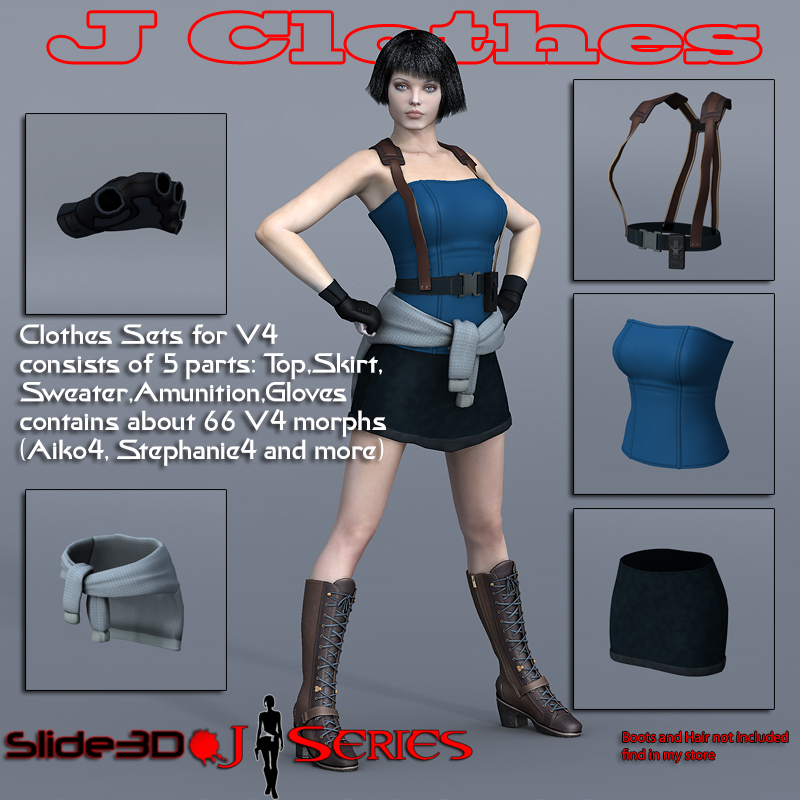 Slide3D J Clothes for V4
