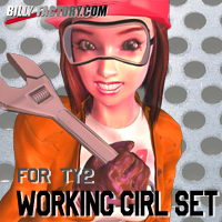 TY2 Working Girl Set 3D Figure Assets billy-t