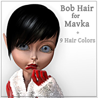 Bob Hair for Mavka 3D Figure Essentials smay
