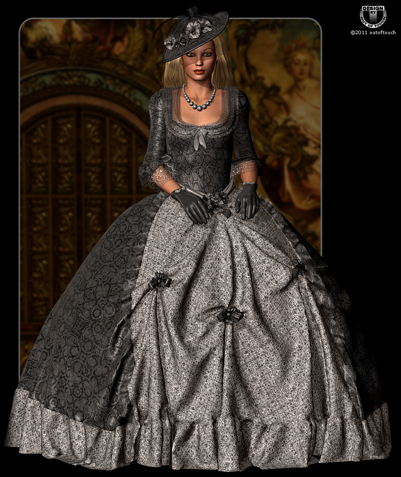 ROYAL STYLES for Marie Louise 18th Century Gown 3D Models 3D Figure ...