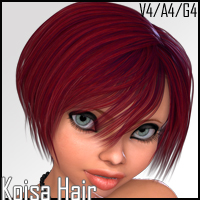 Koisa Hair V4-A4-G4 3D Figure Essentials nikisatez
