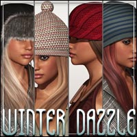 WINTER DAZZLE Caps & Hair Kit 3D Models 3D Figure Assets outoftouch