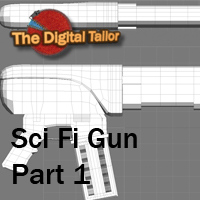 Sci Fi Gun Part 1 3D Models Tutorials : Learn 3D Fugazi1968