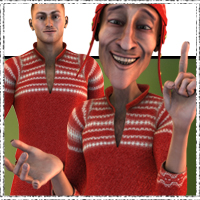 Solo Christmas Outfit 3D Figure Essentials 3D Models jonnte