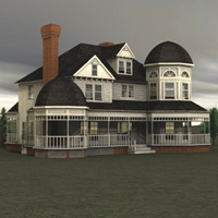 Victorian House (for Vue) Props/Scenes/Architecture Themed Digimation_ModelBank