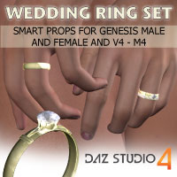Wedding Ring Set 3D Figure Essentials Razor42
