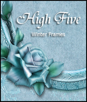 High Five - Winter Frames 3D Models 2D Graphics Bez