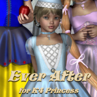 Ever After for K4 Princess 3D Figure Essentials 3D Models JudibugDesigns