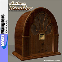 Antique Radio 3D Models keppel