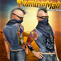 FlamingMan for M4/Hiro4 3D Figure Assets Mint3D