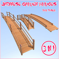 Japanese Garden Bridges 3D Models 1971s