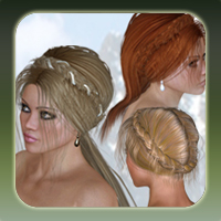 Gretchen Hair Set Software Hair Themed SWAM