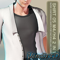 Shirt 05 M4/H4 2 in 1 3D Figure Assets Yanelis3D