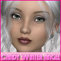 Candy Winter Angel 3D Figure Assets Sveva