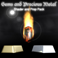 Gems and Precious Metals 3D Figure Assets 3D Models Razor42