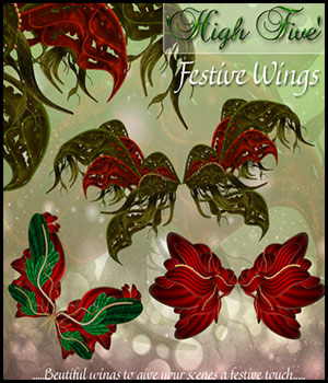 Hi5 Festive Wings 3D Models 2D antje