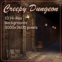 Creepy Dungeon 2D 3D Models AdamantGrafix