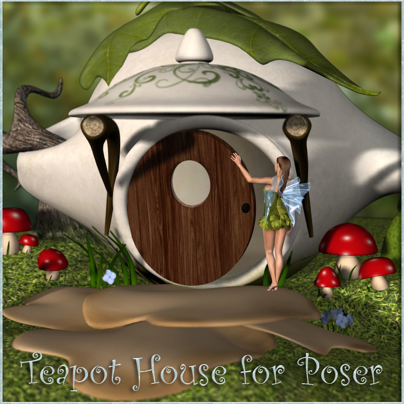 Teapot House for Poser