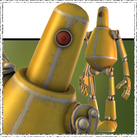 SteamPunk Robots - The Guardian 3D Models jonnte