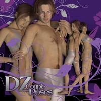 DZ Couple Poses Set 4 3D Figure Essentials dzheng