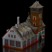 Fire Station (for Poser)  Digimation_ModelBank
