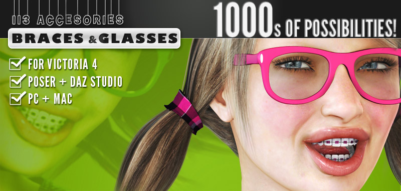 i13 Accessories BRACES and GLASSES