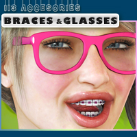 i13 Accessories BRACES and GLASSES 3D Figure Assets ironman13