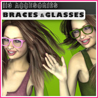 i13 Accessories BRACES and GLASSES image 1