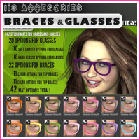 i13 Accessories BRACES and GLASSES image 3