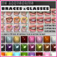 i13 Accessories BRACES and GLASSES image 4
