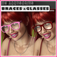 i13 Accessories BRACES and GLASSES image 5