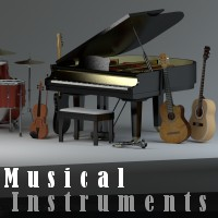 Musical Instruments Props/Scenes/Architecture Themed Software TruForm